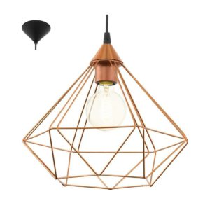 EUROLUX Tarbes P690C Pendant, 1 Light, Copper, 325mm x 300mm