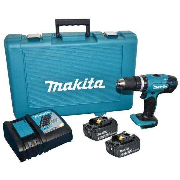 MAKITA Cordless Impact Driver Drill Kit DHP453RYE, 18V