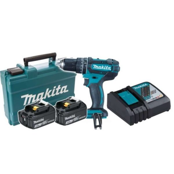 MAKITA Cordless Impact Driver Drill Kit DHP482RFE, 18V