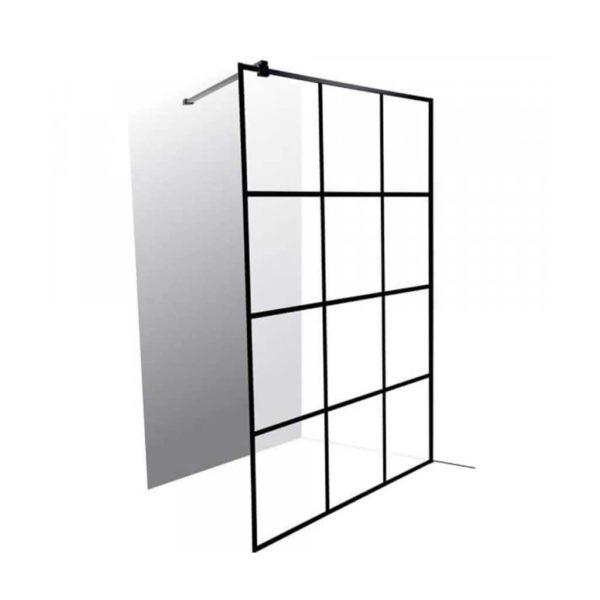 Mont Blanc Shower Screen, 12 Panels, Matte Black, 1200 x 2000mm