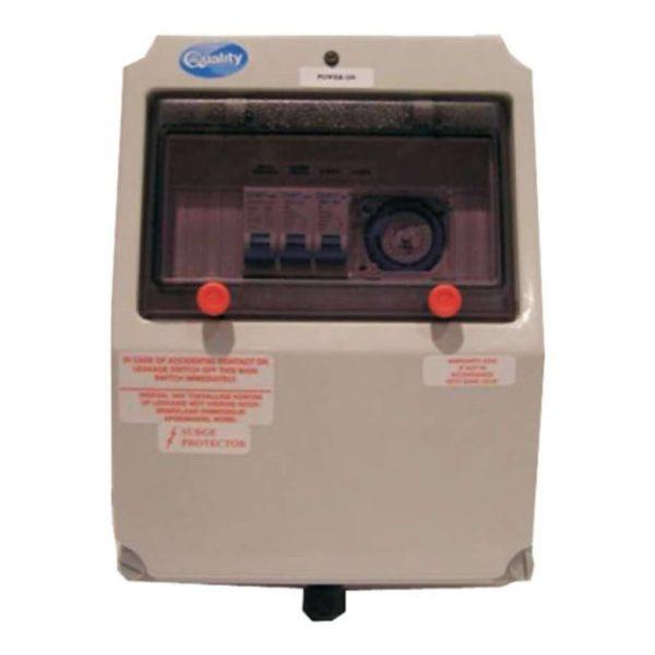 QUALITY Electrical Waterproof Pool DB Box, No Transformer, 125W, Grey