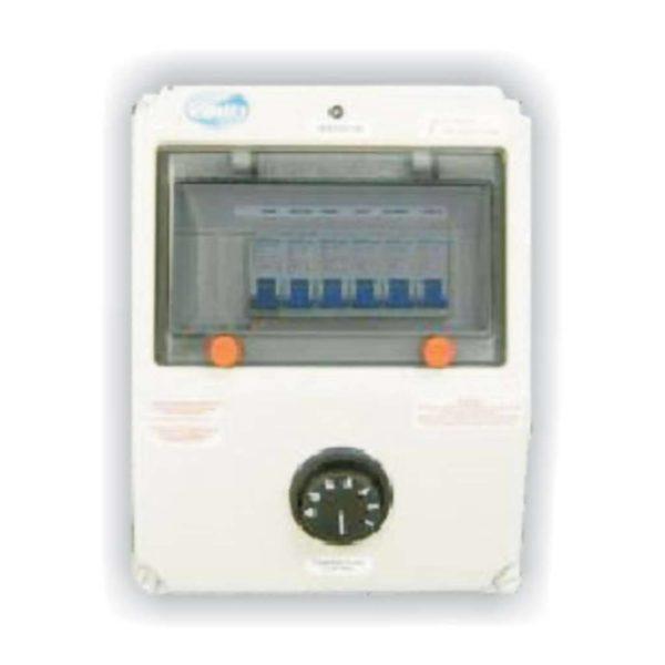 QUALITY Electrical Weatherproof Spa 1 Pump DB Box, Grey