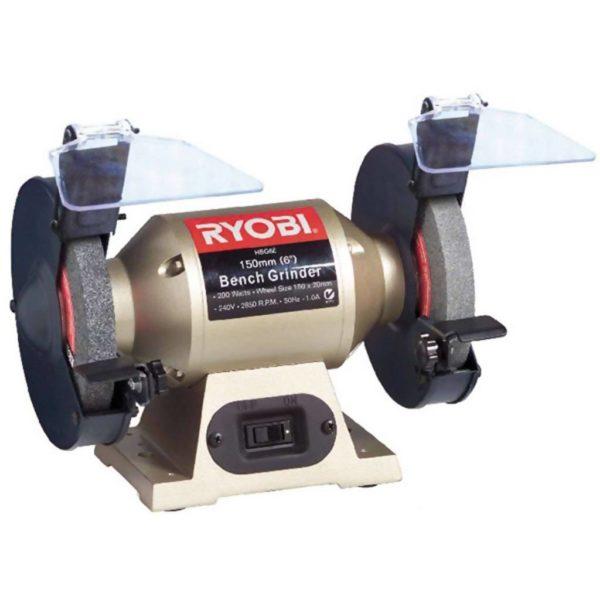 RYOBI Corded Bench Grinder, HBG-6E, 150mm, 1/3 HP, 200W