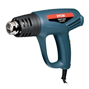 RYOBI Corded Heat Gun, HG-2000, 2 Speed, 450-600 degrees, 2000W