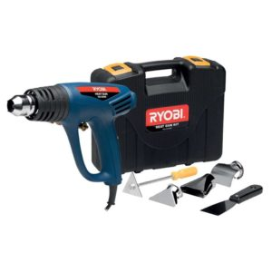 RYOBI Corded Heat Gun, HG-2000K, 2 Speed, 450-600 Degree, 6 Piece Accessory Kit, 2000W