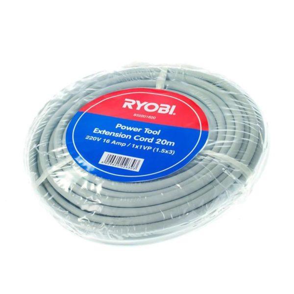 RYOBI Power Tool Extension Cord, 832201620, 220V, 20m