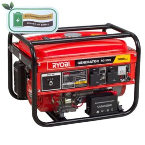 RYOBI RG-3500 4-Stroke Generator With Key Start, 2500W