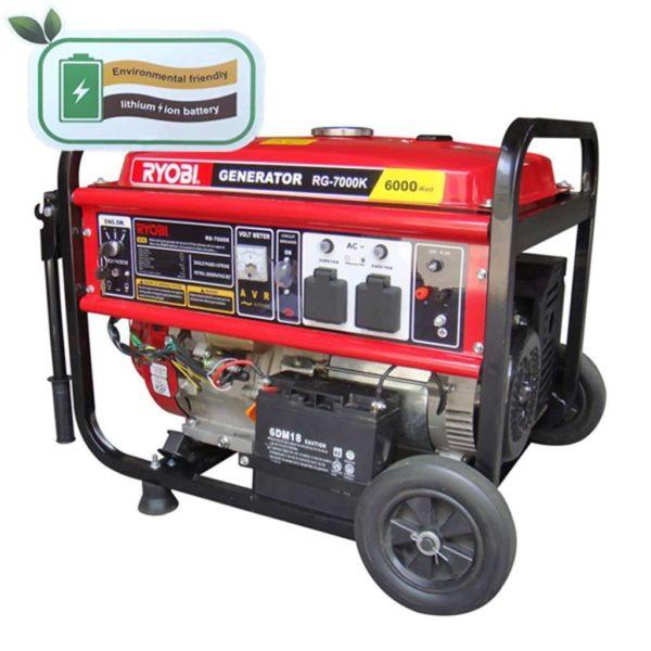 RYOBI RG-7000K 4-Stroke Generator With Key Start, 6500W