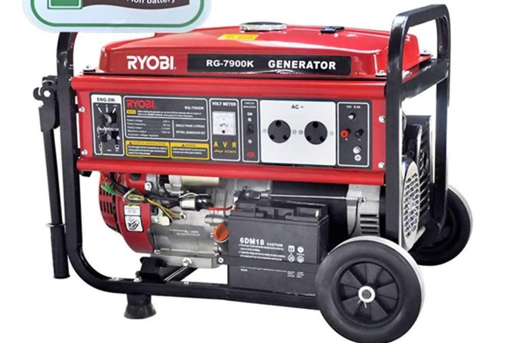 RYOBI RG-7900K 4-Stroke Generator With Key Start, 7500W