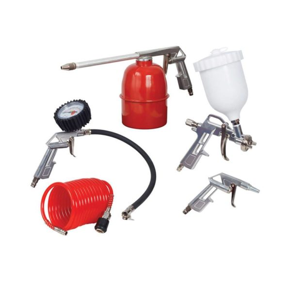 RYOBI RSG-5000 5 Piece Kit,High Pressure Gravity Speed Gun, Air Gun, Paraffin Gun, Tyre inflator, Hose