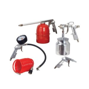 RYOBI RSG-5001 5 Piece Kit, Spray Gun Suction Type, Air Gun, Parraffin Gun, Tyre inflator, Hose
