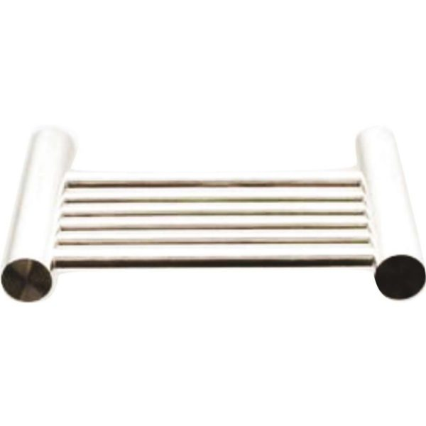 Shelca Oyster Nala Soap Dish, Brushed Stainless Steel