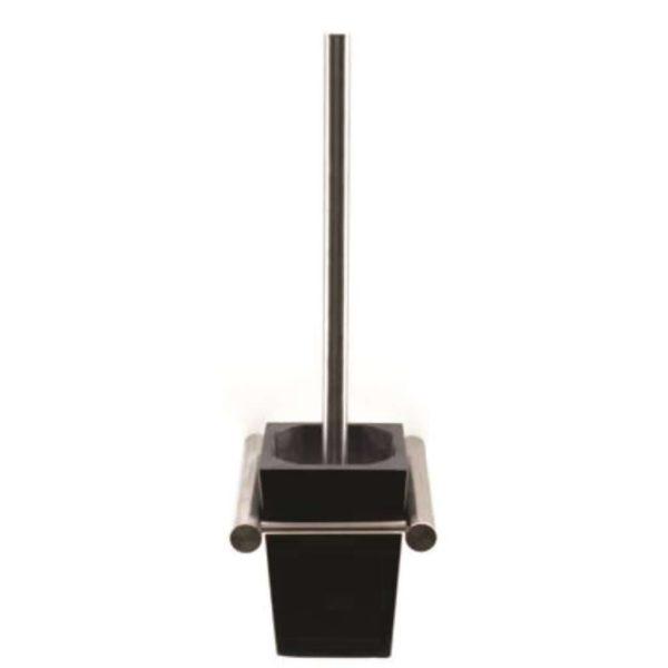 Shelca Oyster Nala Toilet Brush Holder, Brushed Stainless Steel