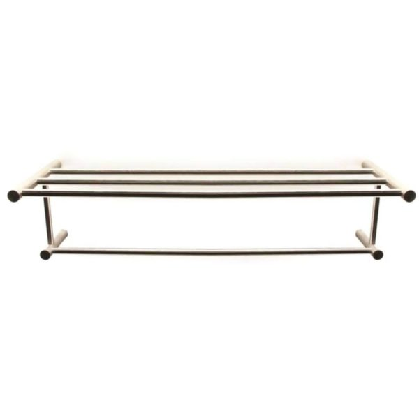 Shelca Oyster Nala Towel Shelf, Brushed Stainless Steel