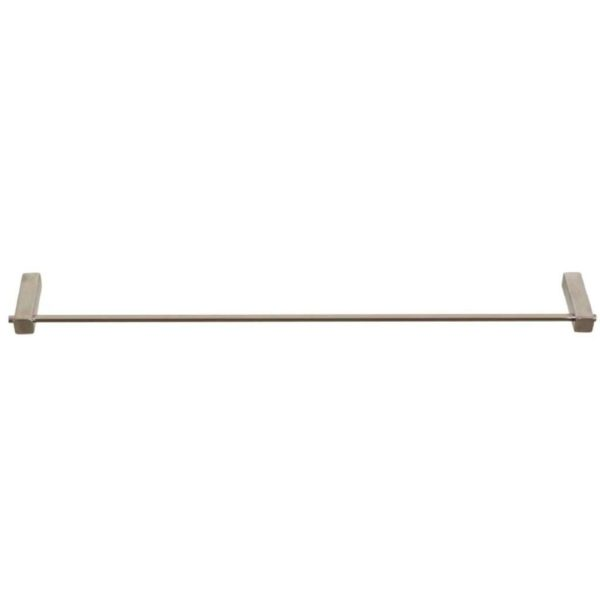 Shelca Pearl Square Single Towel Rail, 600mm, Stainless Steel