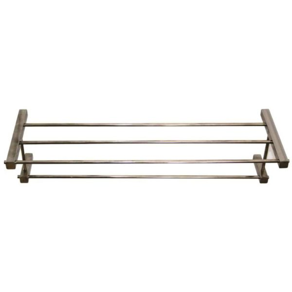 Shelca Pearl Square Towel Shelf, Stainless Steel