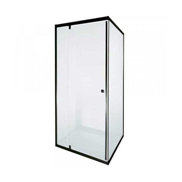 Sierra Shower Door Screen, Matte Black, 900 x 900 x 1850mm