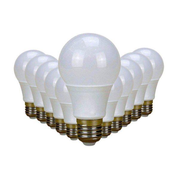 SuperBright 7W LED Light Bulb (Equiv 60W), E27 Screw, Cool White, Pack Of 12