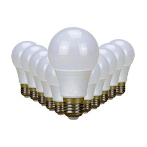 SuperBright 9W LED Light Bulb (Equiv 85W), E27 Screw, Cool White, Pack Of 12