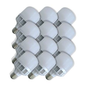 SuperBright Birdcage 10W LED Light Bulb (Equiv 100W), E27 Screw, Cool White, Pack Of 12