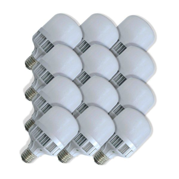 SuperBright Birdcage 5W LED Light Bulb (Equiv 45W), E27 Screw, Cool White, Pack Of 12