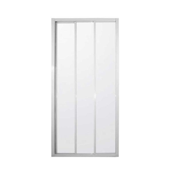 Tri-Slider Shower Door Screen, White, 900 x 1850mm
