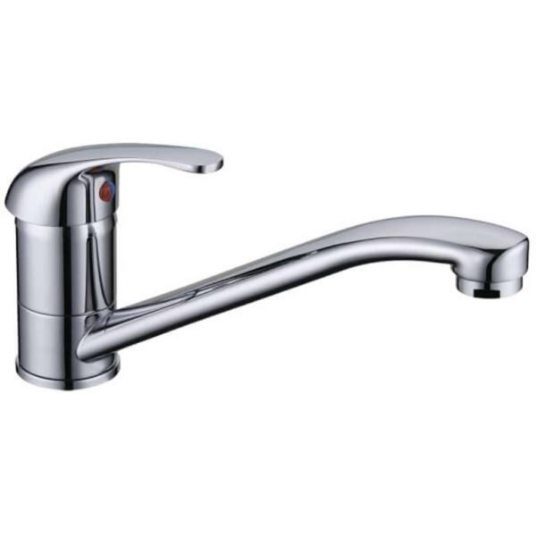 Amber Deck Type Sink Mixer Mixer Faucet, Chrome Plated DZR Brass