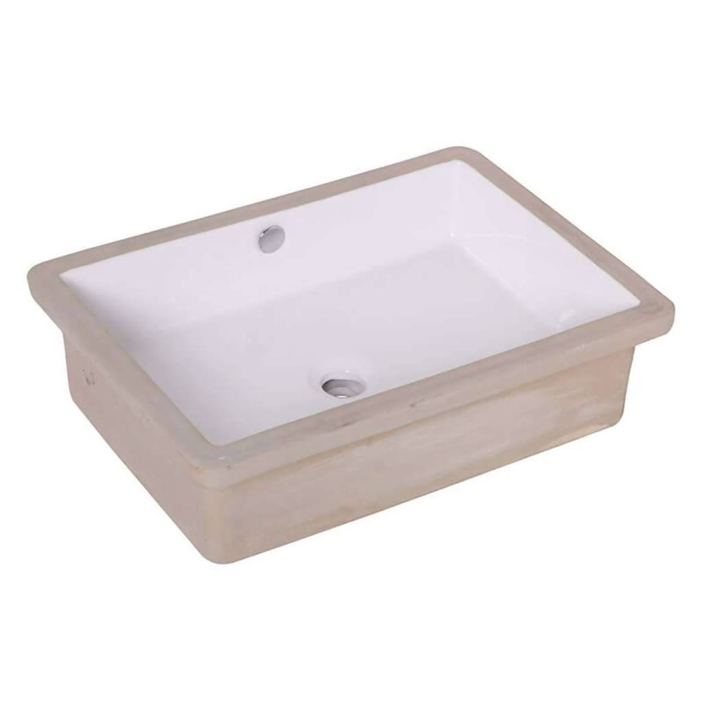 BIJIOU Elegant Underslung Basin, Vitreous China, 560mm x 390mm x 150mm