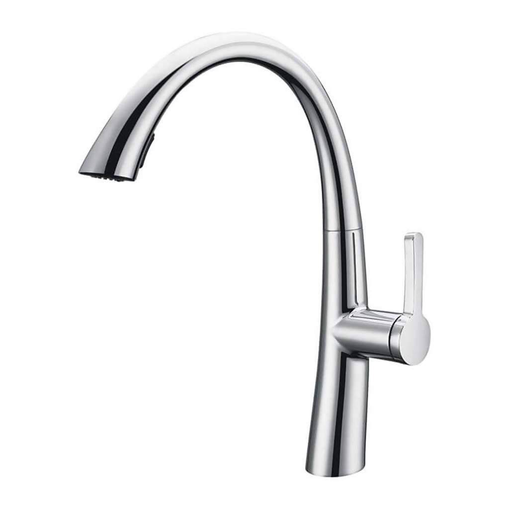 BIJIOU Epte Kitchen Sink Mixer with Swivel Spout, DZR Brass, Chrome Plated