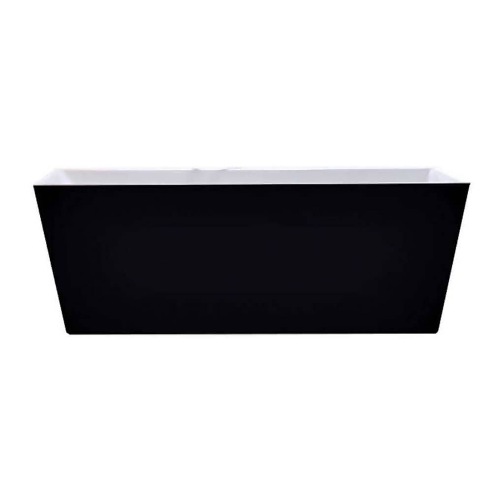 BIJIOU Jura Freestanding Bath, Black, Acrylic