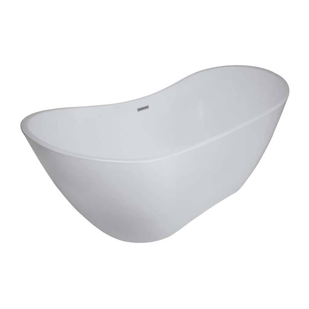 BIJIOU Toulouse Freestanding Bath, White, Acrylic
