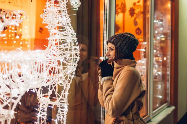 christmas window lighting - Jingle bulbs, uh, bells - it's time to shine and it's Christmas!