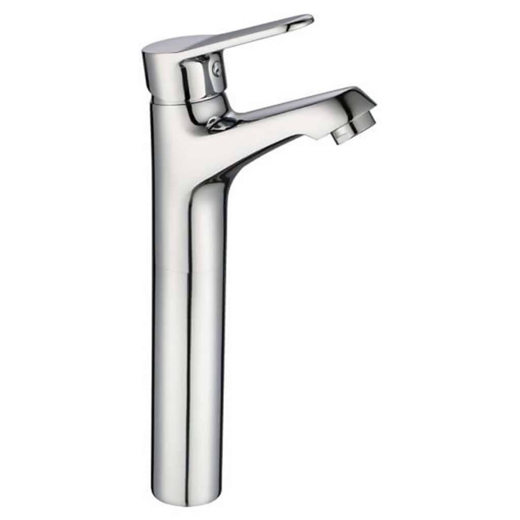 Crystal Basin Mixer, Long Body, Chrome Plated DZR Brass