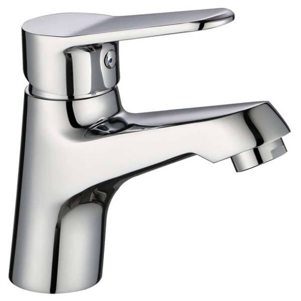 Crystal Basin Mixer, Short Body, Chrome Plated DZR Brass