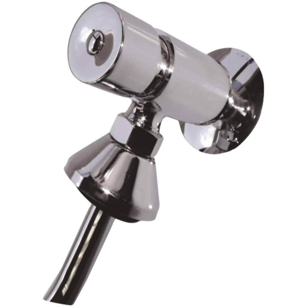 Demand & Metering Urinal Valve C/W Flush Pipe, Stainless Steel
