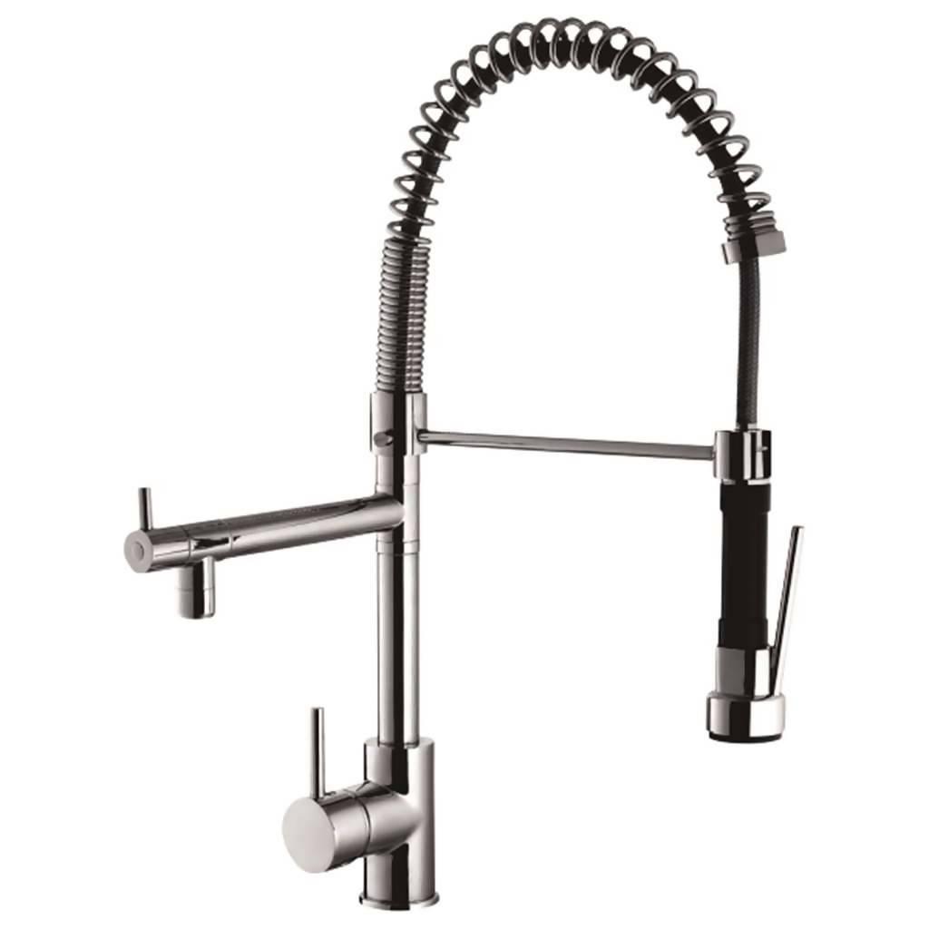 Foxdale Restraint Kitchen Sink Mixer, Stainless Steel