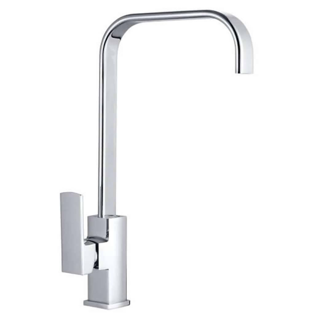 Jasper Deck Type Sink Mixer with Swivel Spout, Chrome Plated DZR Brass