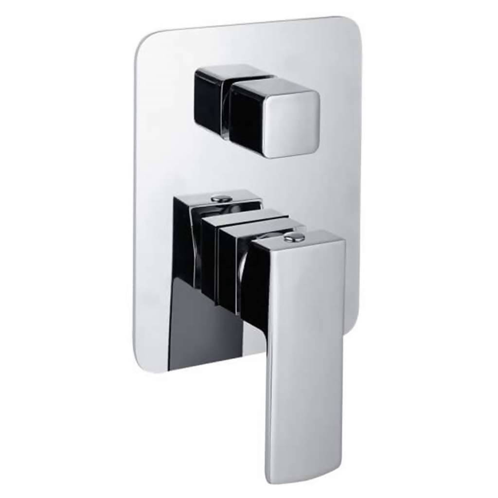 Jasper Undertile Bath or Shower Mixer with Diverter, Chrome Plated DZR Brass
