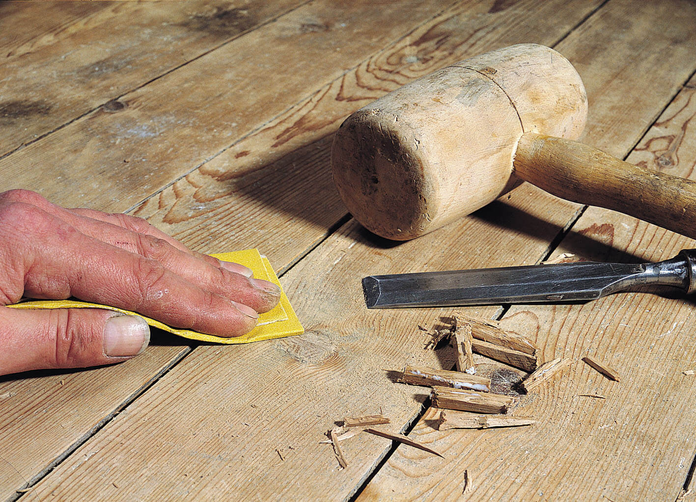 manually sanding floors - How To Sand A Wooden Floor: DIY Guide