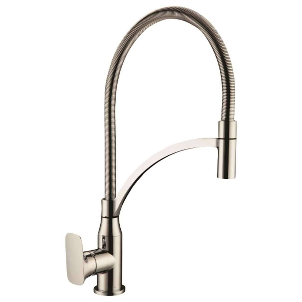 Monarch High Rise Spring Kitchen Sink Mixer, Stainless Steel