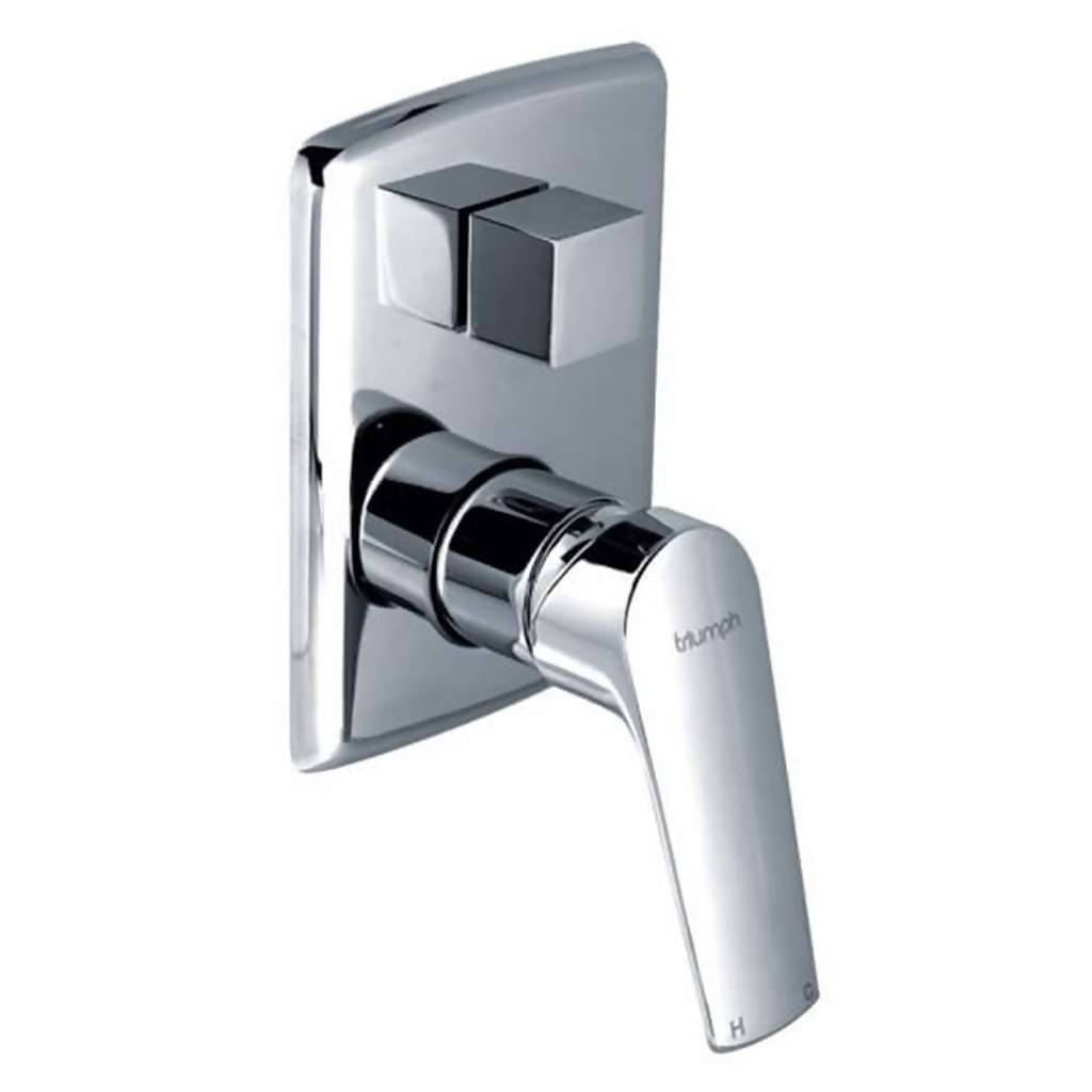 Montana Undertile Bath or Shower Mixer with Diverter, Chrome Plated DZR Brass