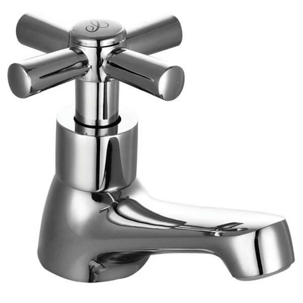 Polar Bath Pillar Tap, 22mm, Chrome Plated DZR Brass