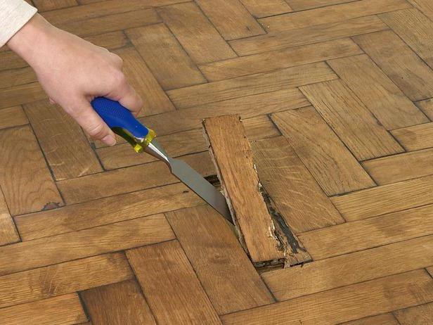 removed damaged floor boards - How To Sand A Wooden Floor: DIY Guide