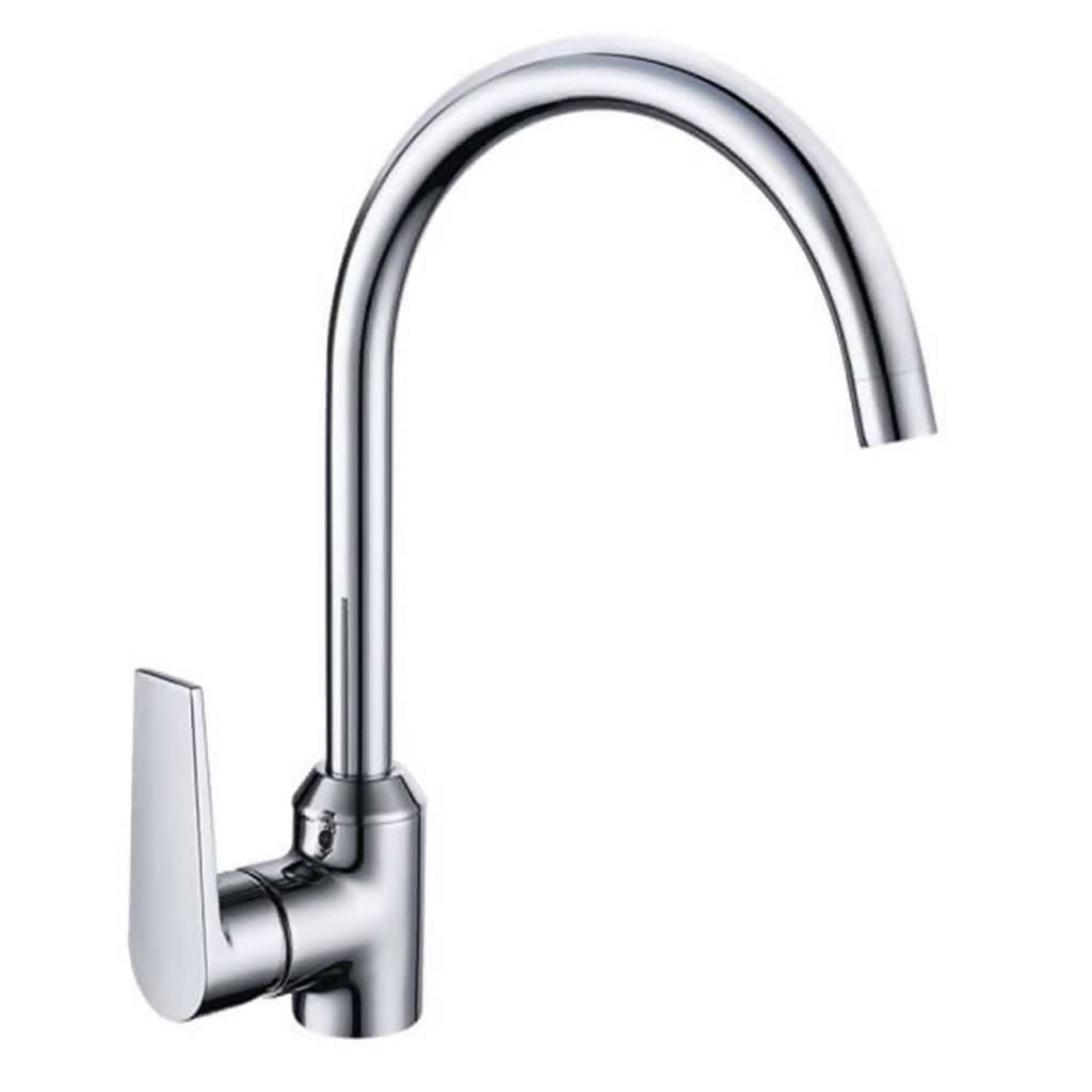 Sapphire Deck Type Sink Mixer with Swivel Spout, Chrome Plated DZR Brass