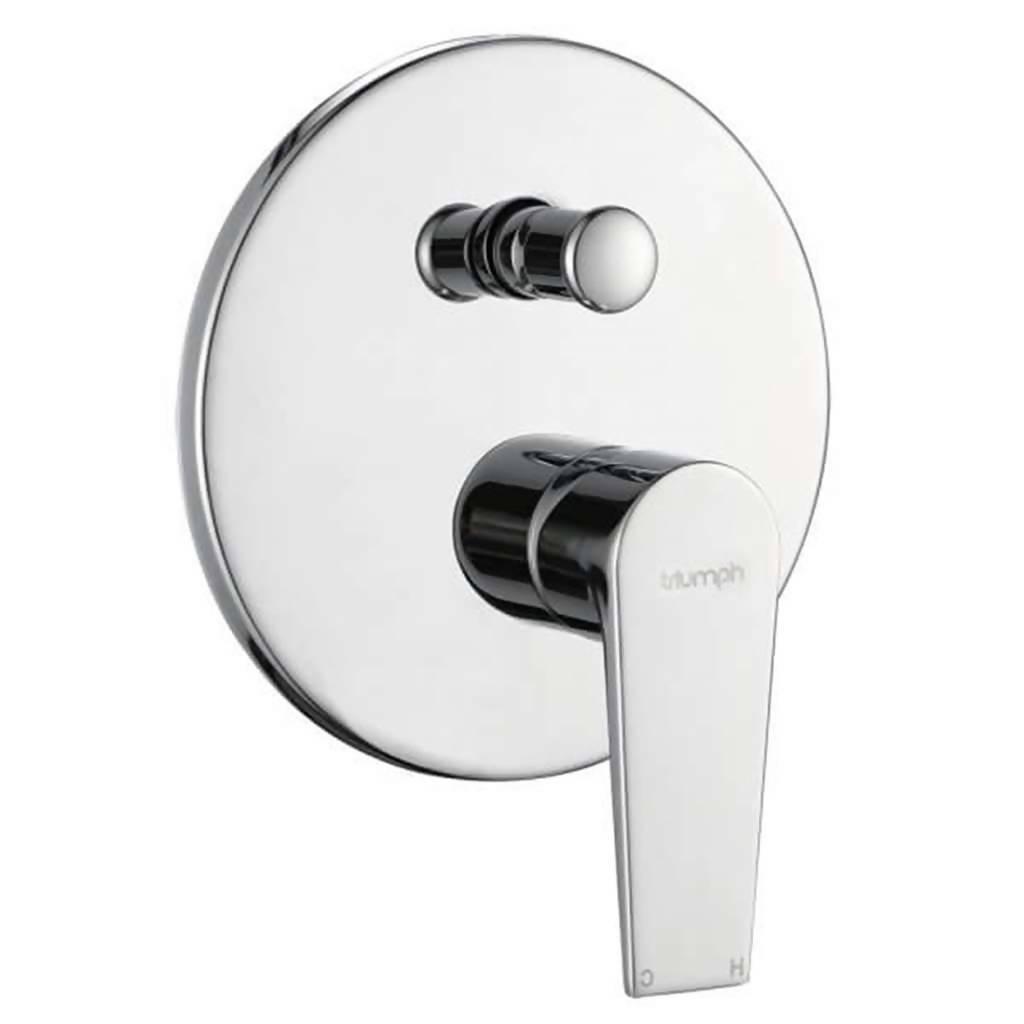 Sapphire Undertie Bath or Shower Mixer with Diverter, Chrome Plated DZR Brass