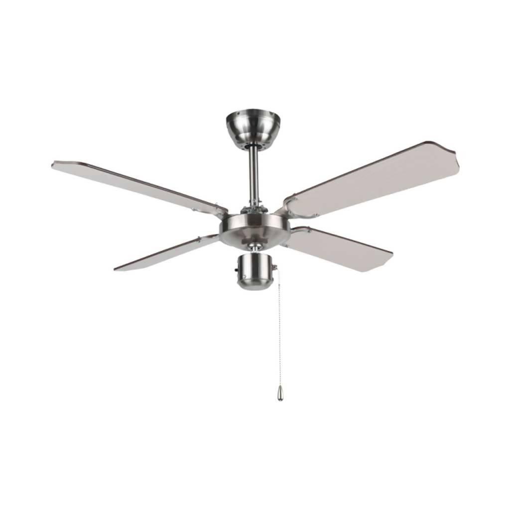 BRIGHT STAR FCF042 Ceiling Fan With 54W Motor, 4 Blade, Satin