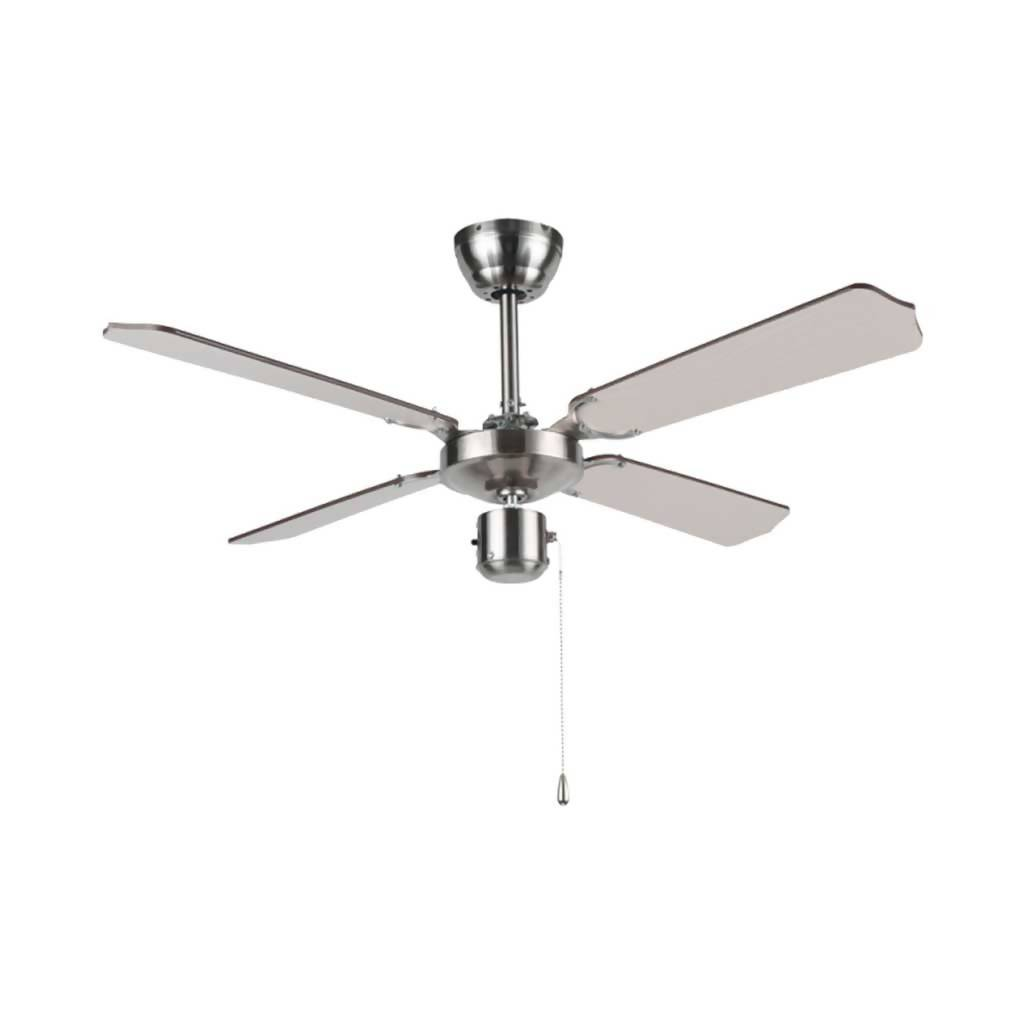 BRIGHT STAR FCF042 Ceiling Fan With 54W Motor, 4 Blade, Satin