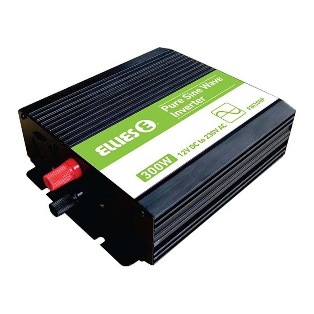 ELLIES Pure Sinewave Inverter, 300W, 12VDC - 230VAC, 50Hz