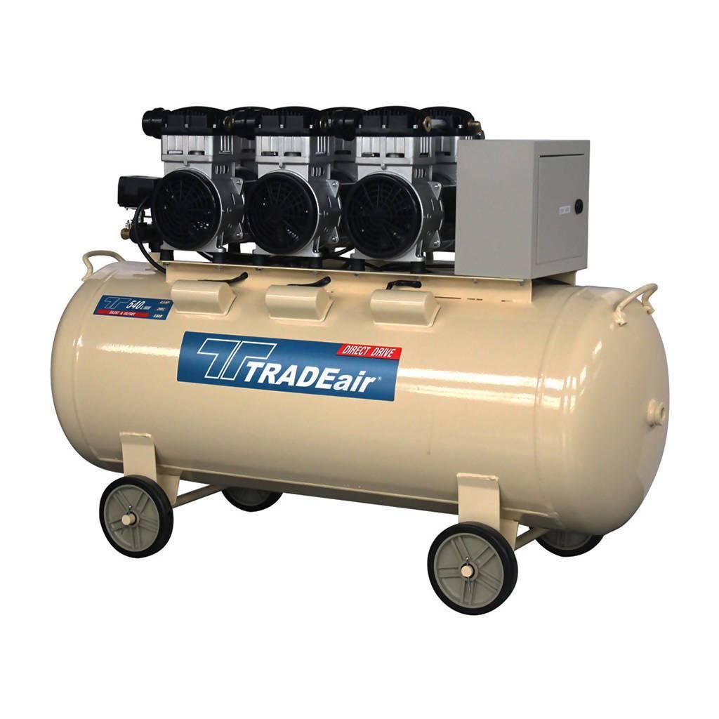 TRADEAIR MCFRC248 Oil-Free Air Compressor, Direct Drive, Multi-Cylinder, Silent, 200L (3.3kW, 4.4hp, 230V)