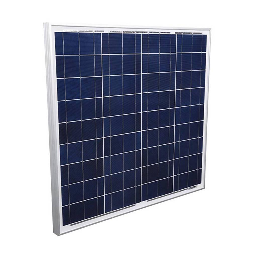 ELLIES 36 Cell Solar Panel, 50W, 12VDC